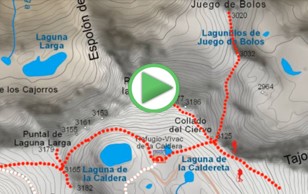 Animación virtual de la Ruta completa de la Integral de Sierra Nevada