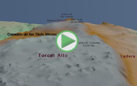 Animación del Sendero Amarillo que recorre el Torcal Alto