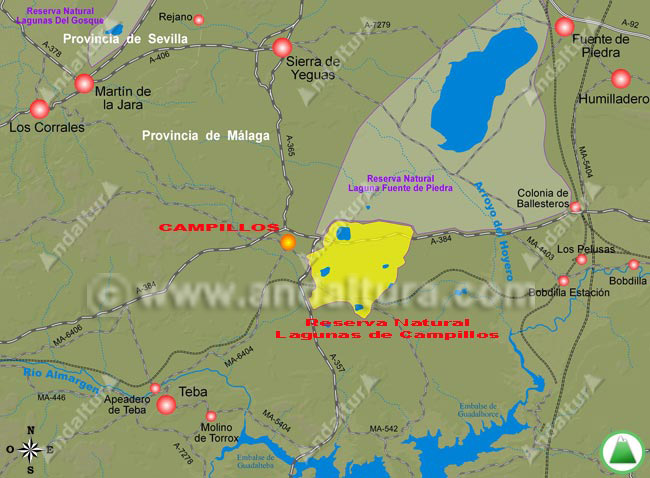 mapa de acceso a campillos