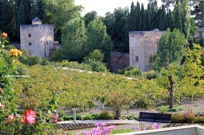 Torres de la Infanta y de la Cautiva, desde el Generalife