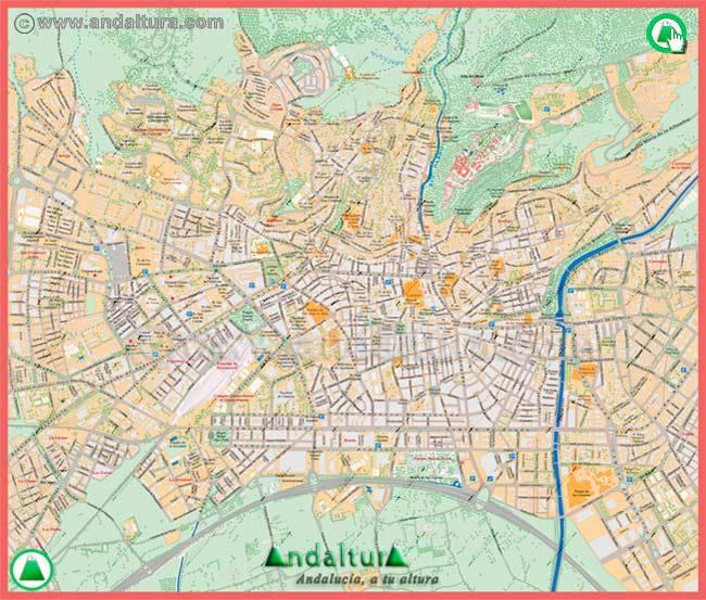Callejero Mapa De Granada Capital.Andaltura Callejero