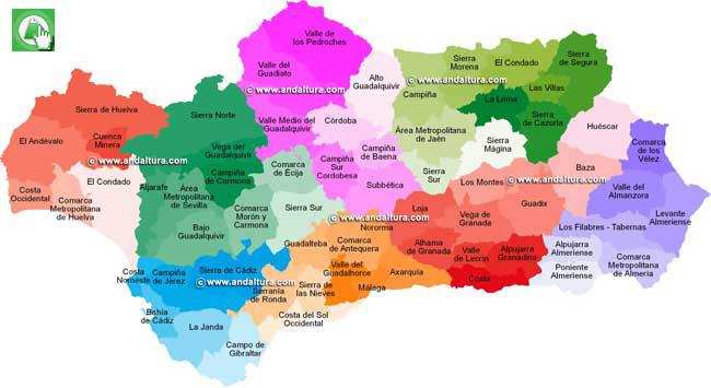 Andaltura  Comarcas Andaluzas