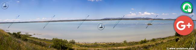 Vista de la Laguna de Fuente de Piedra desde La Mora