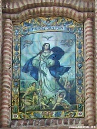 Detalle Iglesia de Nuestra Señora de la Inmaculada Concepción de Alameda