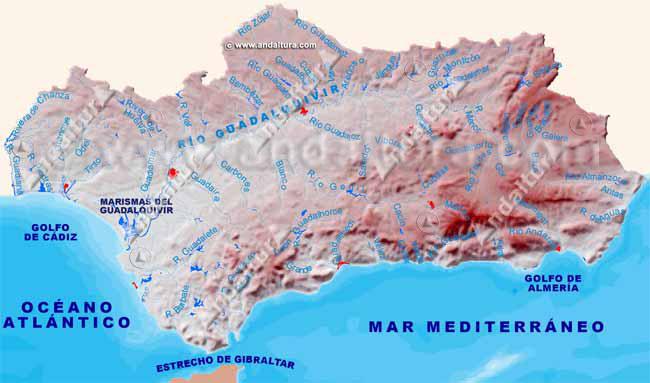 Mapa Rios De Andalucia.Andaltura Rios De Andalucia