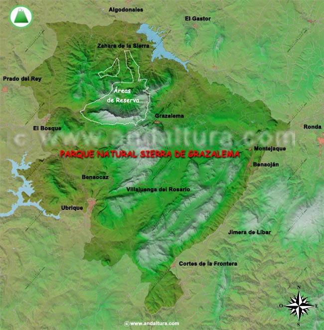 Sierra De Grazalema Mapa.Andaltura Sierra De Grazalema