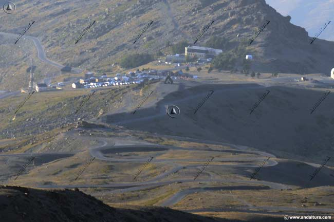 Curvas de herradura en la zona esquiable de Cauchiles-Parador