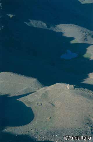 atardecer en el valle de lanjaron, laguna y refugio del caballo