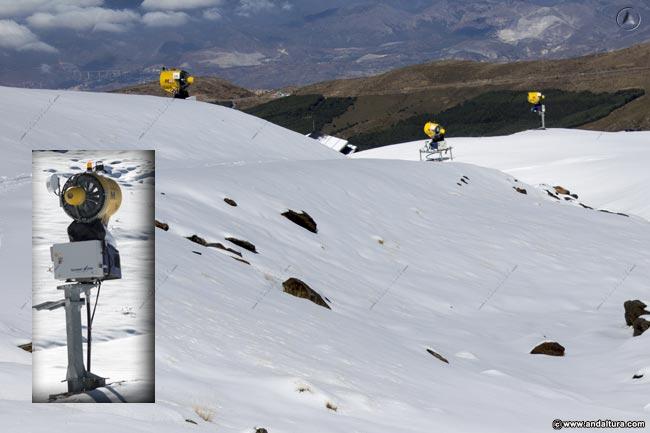 Cañones de Nieve en la Estación Sierra Nevada