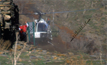 Helicóptero en la Vereda de la Estrella