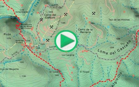 Animación del tramo del GR-142 entre Fondales y Cástaras