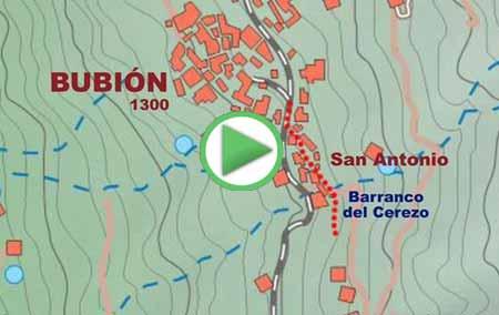 Animación de la ruta de senderismo por el GR7 entre Bubión y Pitres