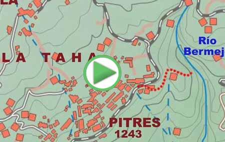 Animación de la ruta de senderismo por el GR-7 entre Pitres y Busquístar