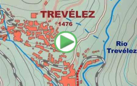 Animación del Gran Recorrido GR7 que une los municipios de Trevélez y Juviles