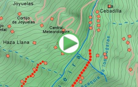 Animación de la ascensión al Mulhacén desde Capileira por La Cebadilla