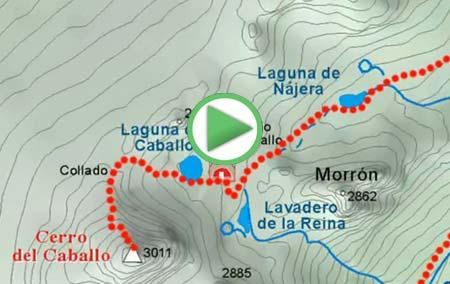 Animación de la ruta desde Lanjarón al Cerro del Caballo, por el río Lanjarón