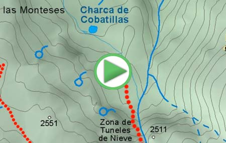 Animación virtual de la ruta hasta los Lavaderos de la Reina