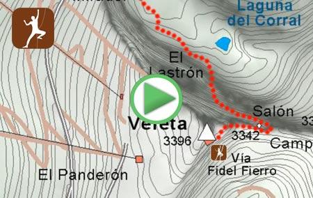 Animación de la ruta para coronar el Veleta a través de la Vía de Escalada Fidel Fierro