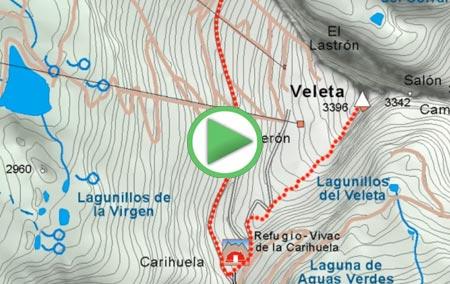 Animación de la ruta desde Pradollano a La Carihuela y al Veleta