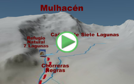 Animación de la Ruta desde Trevélez a la Cañada de Siete Lagunas