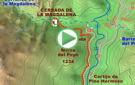 Animación de la ruta de senderismo a la Cerrada de la Magdalena