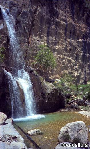 Detalle de la cascada de la Cerrada