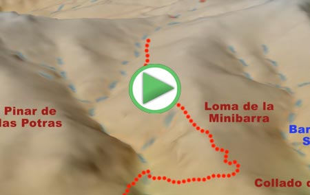 Animación de la ruta de Senderismo desde el Collado del Laude al Cerro del Buitre