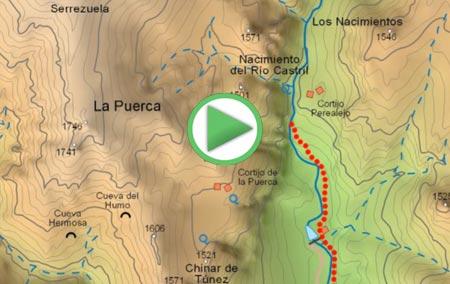 Animación de la ruta de senderismo al Nacimiento del río Castril