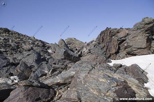 Zona de grandes rocas en la arista de Tajos Altos