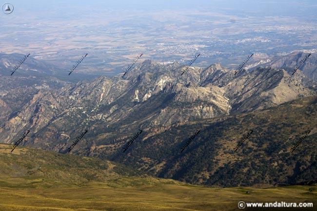 Los Alayos y la Vega de Granada al fondo
