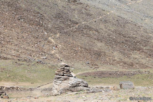 Veredas hacia el Collado del Ciervo y al Mulhacén
