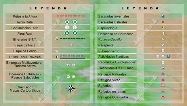Continuación Leyenda mapas gratis de andaltura