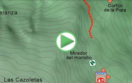 Animación desde el Barranco de San Juan a los Cortijos del Hornillo