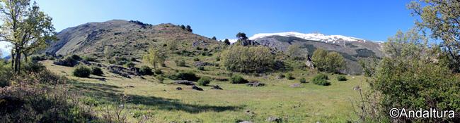 Zona de las ruinas del Cortijo de los Hoyos