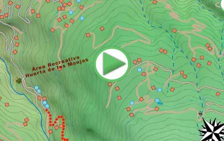 Animación virtual de la ruta por el Castañar de Lanjarón