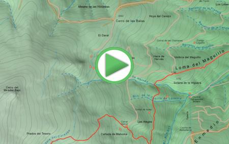 Animación virtual de la ruta desde Jérez del Marquesado a las Paratas de Chorreras Negras, Pequeño Recorrido PR-A344 Sendero Solidario El Avión