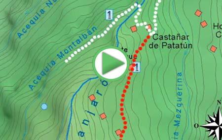 Animación de la Ruta desde Lanjarón hasta las Casas de Tello y regreso por la Acequía de Montalbán
