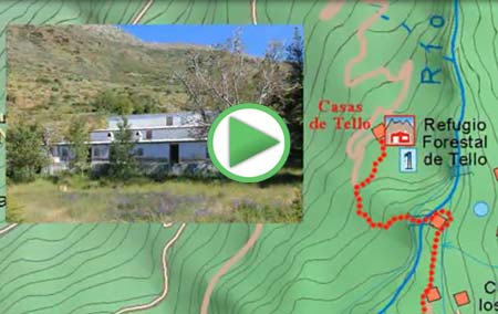 Animación de la ruta para ascender a las Casas de Tello desde Lanjarón