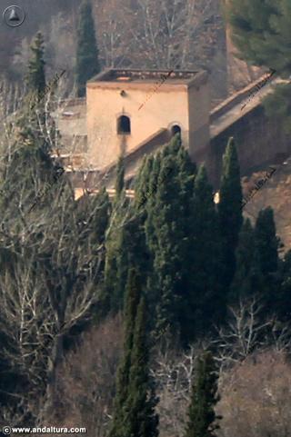 Vista de la Torre de Baltasar de la Cruz desde la Dehesa del Generalife