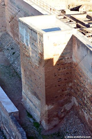 Torre de Alquiza, terraza, adarve y foso