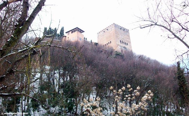 Torre de Comares nevada