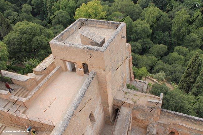 Torre de la Polvora desde la Torre de la Vela