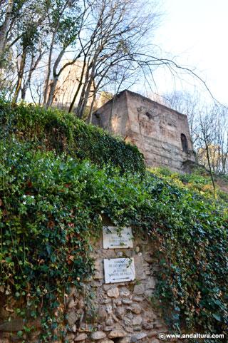 Torre desde la Cuesta de Gomérez, en las cercanías de la Puerta de las Granadas