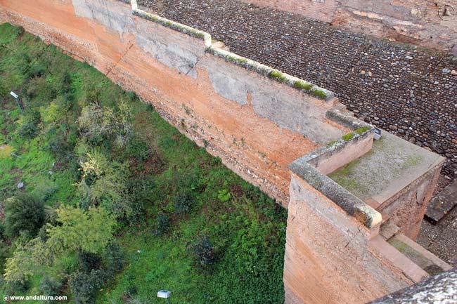 Detalle Muralla y Adarve en la Torre de las Armas