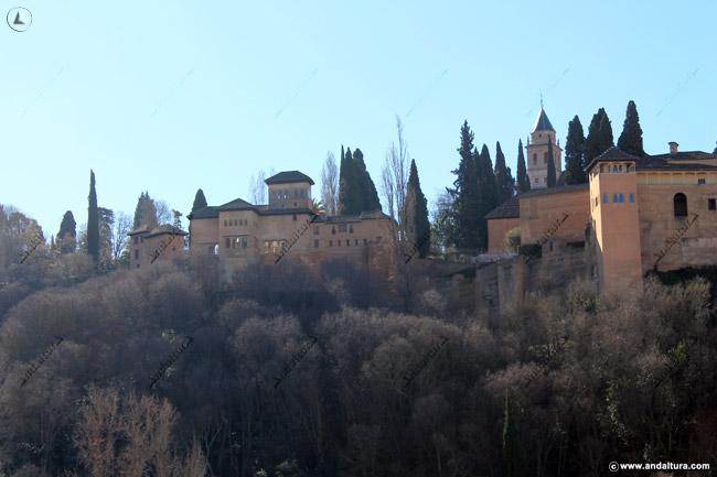 Bosque de la Alhambra y Palacio del Partal y el Peinador de la Reina