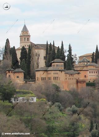 Palacio del Partal desde el Sacromonte