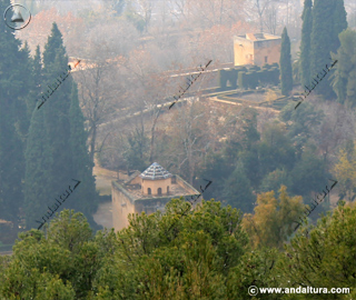 Terraza de la Torre de las Infantas y Medina desde la Dehesa del Generalife