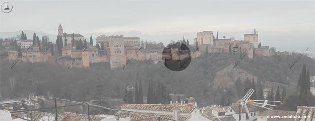 Situación de la Torre de Muhammad desde el Mirador de San Nicolás