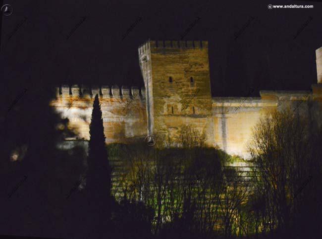 Cimientos de la Torre de Muhammad desde la Placeta de la Victoria - Albaicín -