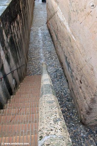 Escaleras acceso a la Torre del Cubo